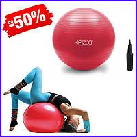 Гимнастический мяч для фитнеса 4FIZJO 55 см Anti-Burst 4FJ0031 Red фитбол для спины беременных и похудения