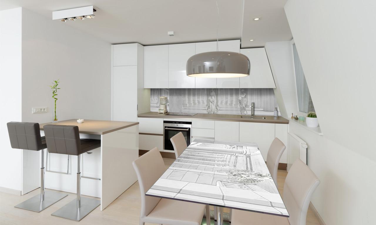 Наліпка 3Д вінілова на стіл Zatarga «Колони» 650х1200 мм для будинків, квартир, столів, кофеєнь, кафе