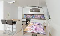 Наклейка 3Д виниловая на стол Zatarga «Полевые цветы Велосипед» 650х1200 мм для домов, квартир, столов, , фото 1