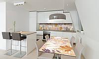 Наклейка 3Д виниловая на стол Zatarga «Осень» 650х1200 мм для домов, квартир, столов, кофейн, кафе, фото 1