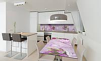 Наклейка 3Д виниловая на стол Zatarga «Время Тюльпанов» 600х1200 мм для домов, квартир, столов, кофейн,, фото 1
