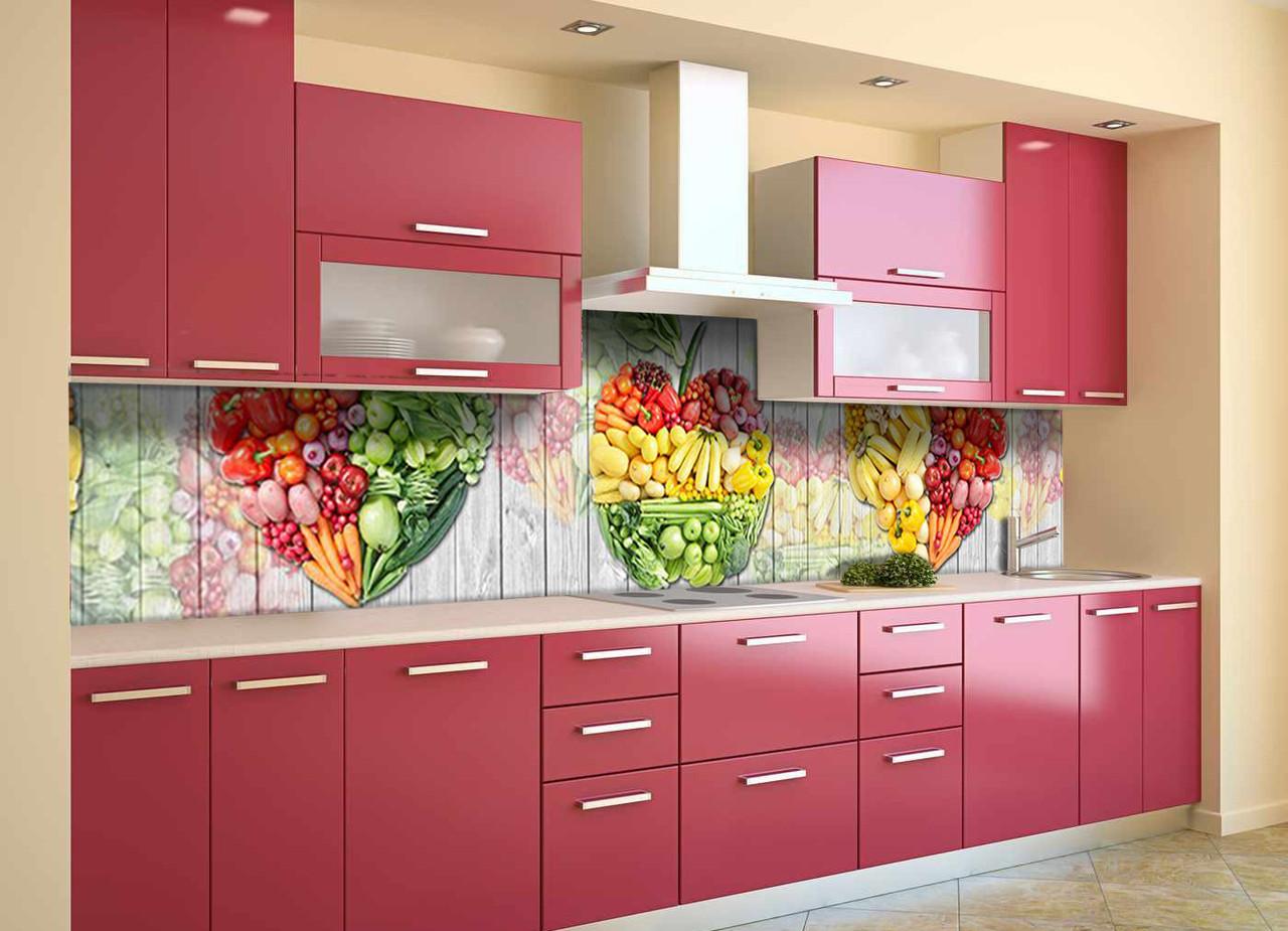 Скинали на кухню Zatarga «Ассорти фруктов» 600х3000 мм виниловая 3Д наклейка кухонный фартук самоклеящаяся