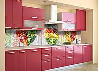 Скинали на кухню Zatarga «Ассорти фруктов» 600х3000 мм виниловая 3Д наклейка кухонный фартук самоклеящаяся, фото 1