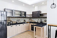 Скинали на кухню Zatarga «Кофейный винтаж» 600х2500 мм виниловая 3Д наклейка кухонный фартук самоклеящаяся для