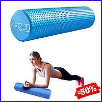 Ролик валик роллер 4FIZJO Eva 4FJ0119 Blue для миофасциального массажа спортивный ролл для йоги пилатеса