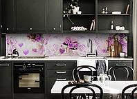 Скинали на кухню Zatarga «Сердечки» 600х3000 мм виниловая 3Д наклейка кухонный фартук самоклеящаяся, фото 1