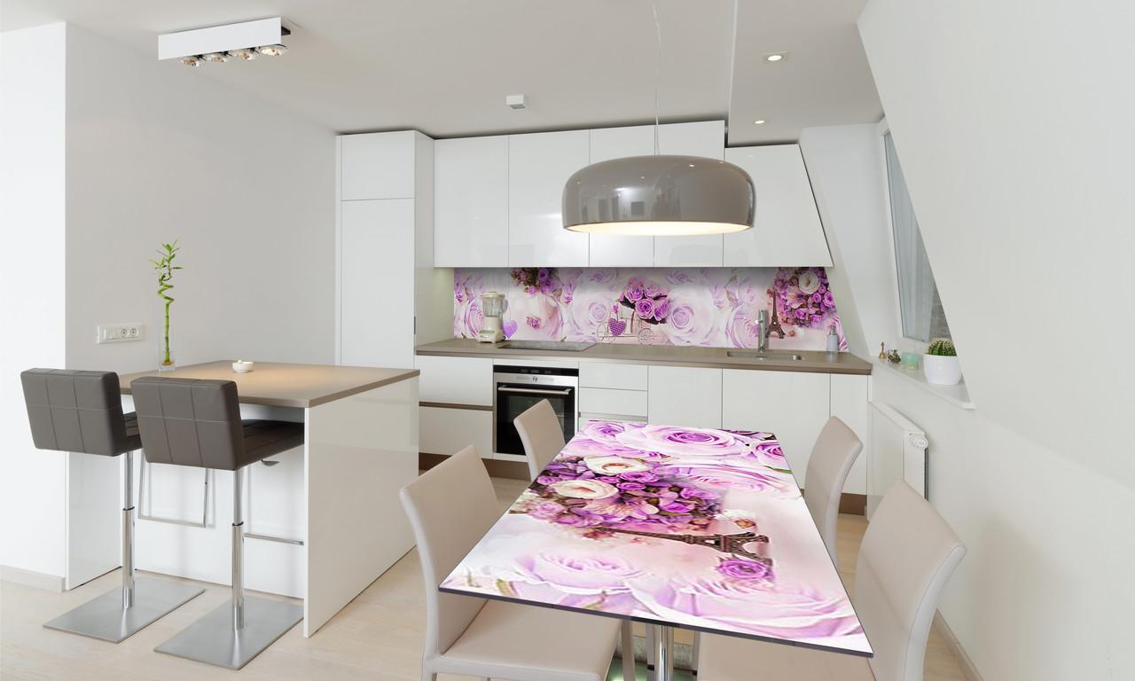 Наліпка 3Д вінілова на стіл Zatarga «Сердечка» 650х1200 мм для будинків, квартир, столів, кофеєнь, кафе