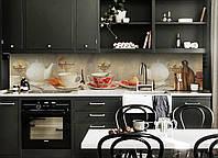Вінілова Наліпка кухонний фартух Zatarga «Чаювання під старовину» 600х2500 мм, фото 1