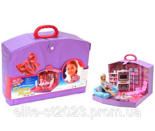 """Кукольный домик в чемоданчике """"Family Room"""" 2014HB"""