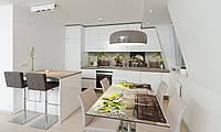 Наклейка 3Д виниловая на стол Zatarga «Необычные цветы» 650х1200 мм для домов, квартир, столов, кофейн,, фото 1