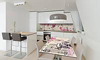 Наклейка 3Д виниловая на стол Zatarga «Роза Гламур» 600х1200 мм для домов, квартир, столов, кофейн,, фото 1