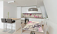 Наклейка 3Д виниловая на стол Zatarga «Роза Гламур» 650х1200 мм для домов, квартир, столов, кофейн,, фото 1