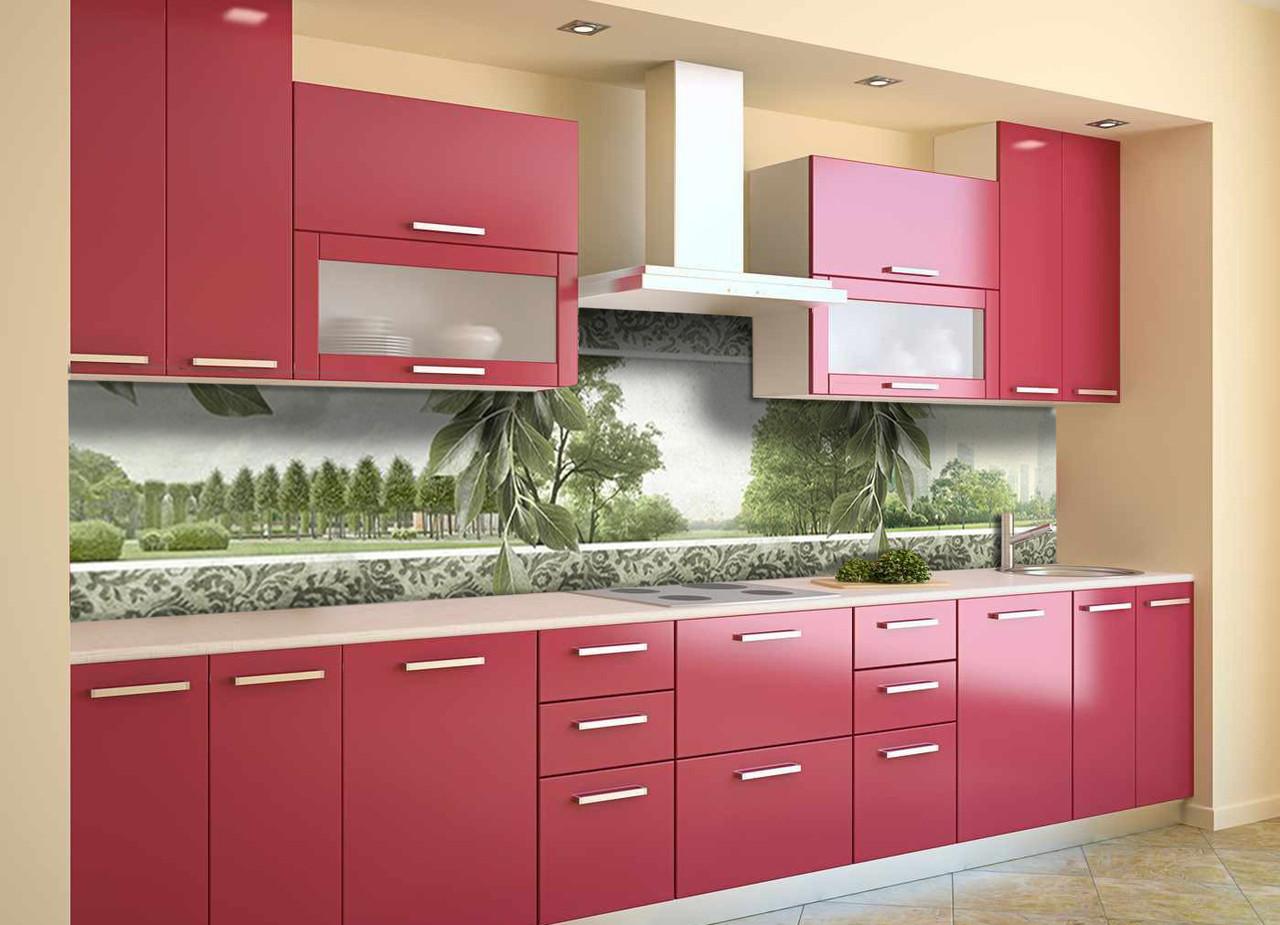 Скинали на кухню Zatarga «Листья» 600х3000 мм виниловая 3Д наклейка кухонный фартук самоклеящаяся