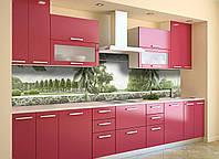 Скинали на кухню Zatarga «Листья» 600х3000 мм виниловая 3Д наклейка кухонный фартук самоклеящаяся, фото 1