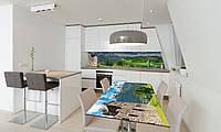 Наклейка 3Д виниловая на стол Zatarga «Долина возле Замка» 650х1200 мм для домов, квартир, столов, , фото 1