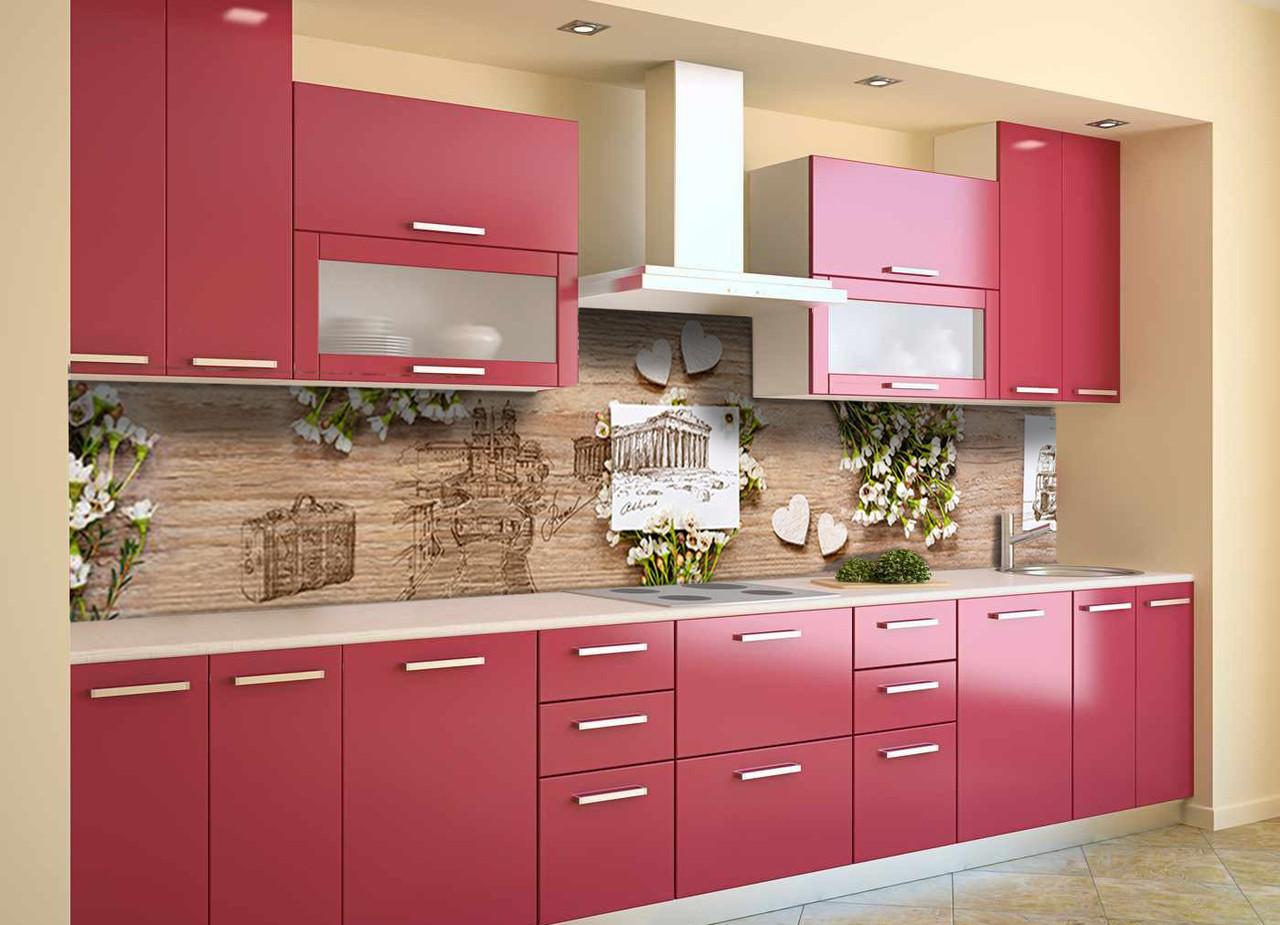Скинали на кухню Zatarga «Полевые цветы белые» 600х3000 мм виниловая 3Д наклейка кухонный фартук самоклеящаяся
