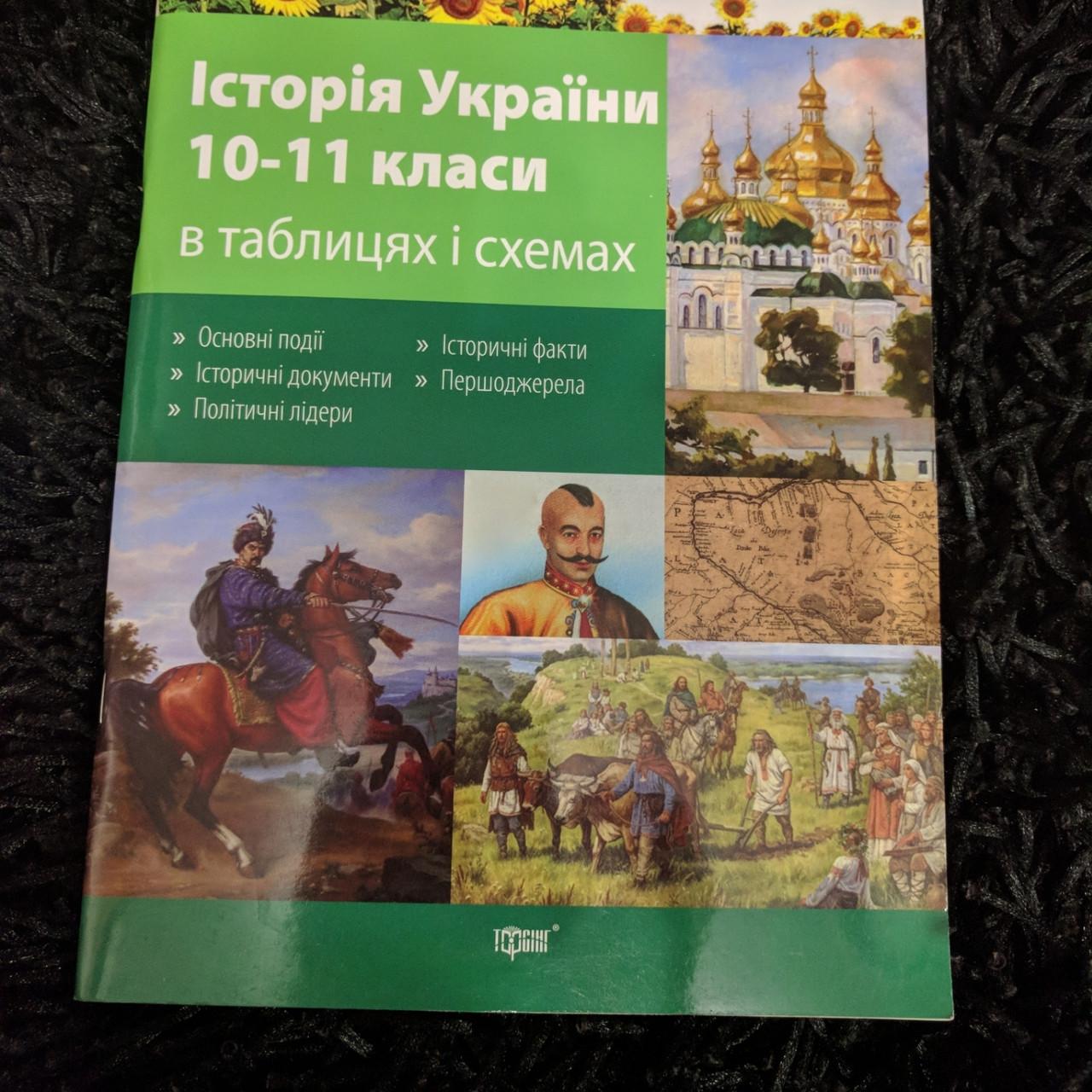 История Украины 10-11 классы в таблицах и схемах