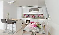 Наклейка 3Д виниловая на стол Zatarga «Венеция Орхидеи» 650х1200 мм для домов, квартир, столов, кофейн,, фото 1