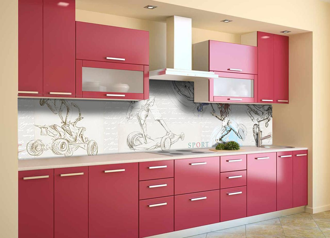 Скинали на кухню Zatarga «Экстрим» 650х2500 мм виниловая 3Д наклейка кухонный фартук самоклеящаяся