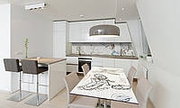 Наклейка 3Д виниловая на стол Zatarga «Экстрим» 600х1200 мм для домов, квартир, столов, кофейн, кафе, фото 1