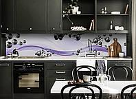 Скинали на кухню Zatarga «Стальные шары 02» 600х2500 мм виниловая 3Д наклейка кухонный фартук самоклеящаяся, фото 1