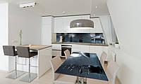 Наклейка 3Д виниловая на стол Zatarga «Ночные Корабли» 600х1200 мм для домов, квартир, столов, кофейн,, фото 1