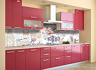 Скинали на кухню Zatarga «Эксклюзив» 650х2500 мм виниловая 3Д наклейка кухонный фартук самоклеящаяся, фото 1