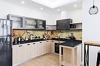 Скинали на кухню Zatarga «Веер» 600х2500 мм виниловая 3Д наклейка кухонный фартук самоклеящаяся, фото 1