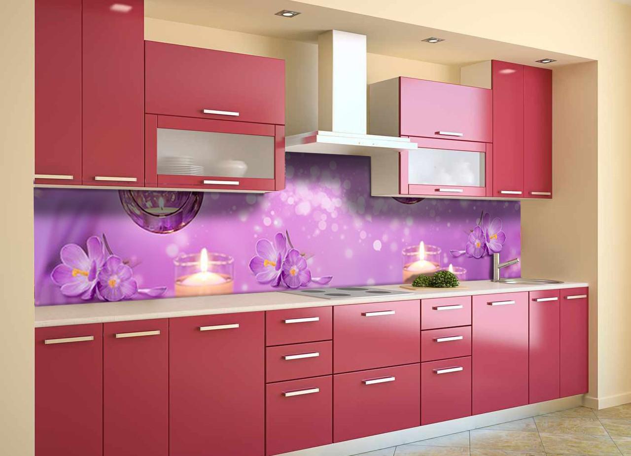 Скинали на кухню Zatarga «Блики» 600х2500 мм виниловая 3Д наклейка кухонный фартук самоклеящаяся