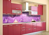 Скинали на кухню Zatarga «Блики» 600х2500 мм виниловая 3Д наклейка кухонный фартук самоклеящаяся, фото 1