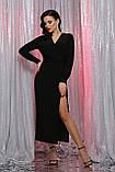 Вечернее платье с разрезом черное Цецилия, фото 2