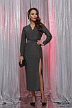 Вечернее платье с разрезом черный серебро Цецилия, фото 2
