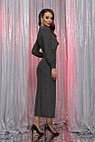 Вечернее платье с разрезом черный серебро Цецилия, фото 3