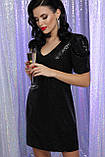 Вечернее платье с пайетками черное Элозия, фото 2