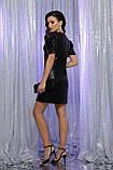 Вечернее платье с пайетками черное Элозия, фото 4