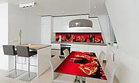 Наклейка 3Д виниловая на стол Zatarga «Гранатовый сок» 600х1200 мм для домов, квартир, столов, кофейн,, фото 1