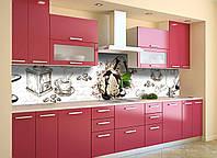 Скинали на кухню Zatarga «Мороженое» 600х3000 мм виниловая 3Д наклейка кухонный фартук самоклеящаяся, фото 1