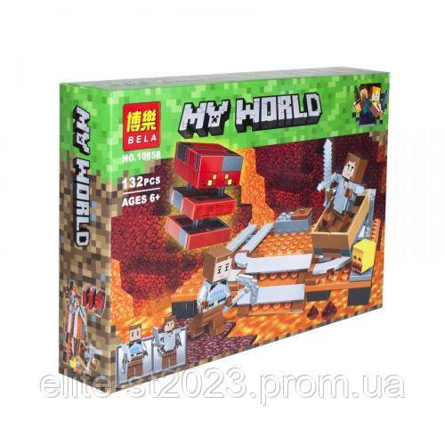 "Конструктор ""My World Minecraft: Лавовий куб"", 132 деталі 10958"