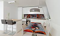 Наклейка 3Д виниловая на стол Zatarga «Лесные ягоды» 650х1200 мм для домов, квартир, столов, кофейн,, фото 1