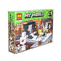 """Конструктор """"Minecraft: Скелет против снеговика"""", 118 деталь BELA Майнкрафт"""