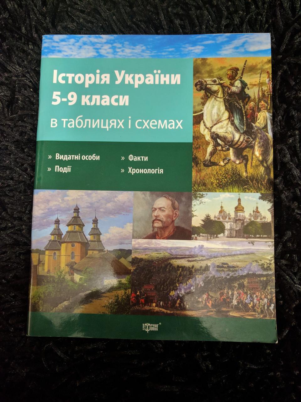 История Украины 5-9 классы в таблицах и схемах