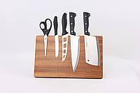 Деревянный магнитный держатель для ножей 35х22 см