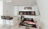 Наклейка 3Д виниловая на стол Zatarga «Гибискус» 600х1200 мм для домов, квартир, столов, кофейн, кафе, фото 1