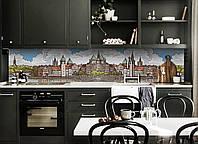 Скинали на кухню Zatarga «Крепость» 600х2500 мм виниловая 3Д наклейка кухонный фартук самоклеящаяся, фото 1