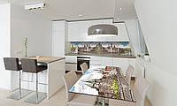 Наклейка 3Д виниловая на стол Zatarga «Крепость» 650х1200 мм для домов, квартир, столов, кофейн, кафе, фото 1