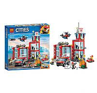 Конструктор lego city пожарная станция 533 дет, в коробке