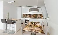 Наклейка 3Д виниловая на стол Zatarga «Двери в Прованс» 600х1200 мм для домов, квартир, столов, кофейн,
