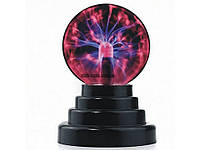Плазменный шар ночник светильник, магический шар Plasma Light Magic Fla от сети и батареек красный (232)