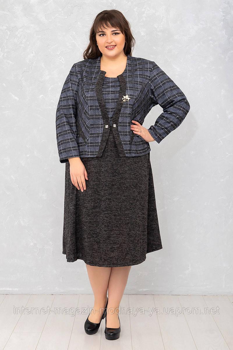 Женское платье из ангоры Руфи р. 62-72