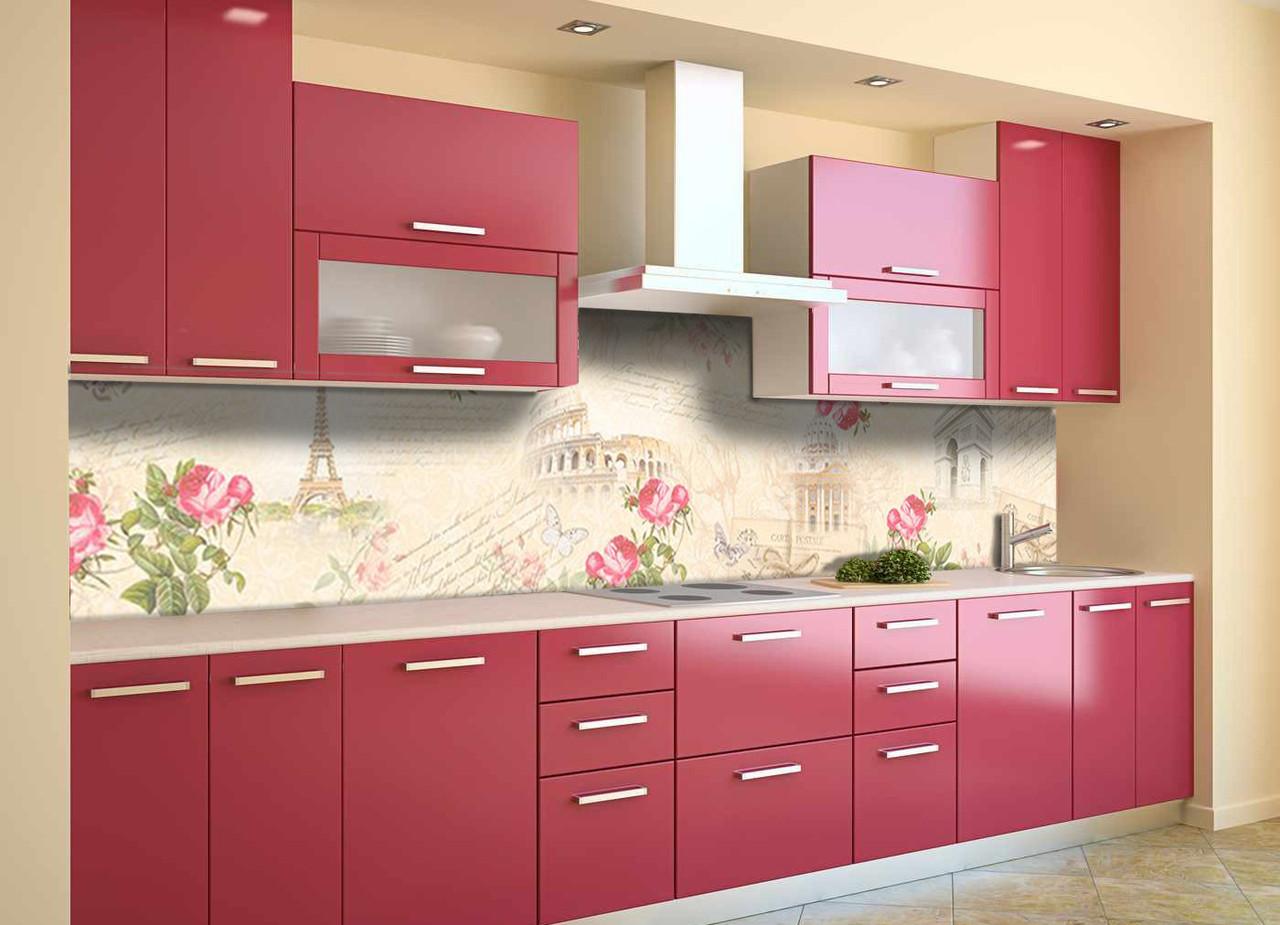 Скинали на кухню Zatarga «Воспоминание» 600х3000 мм виниловая 3Д наклейка кухонный фартук самоклеящаяся